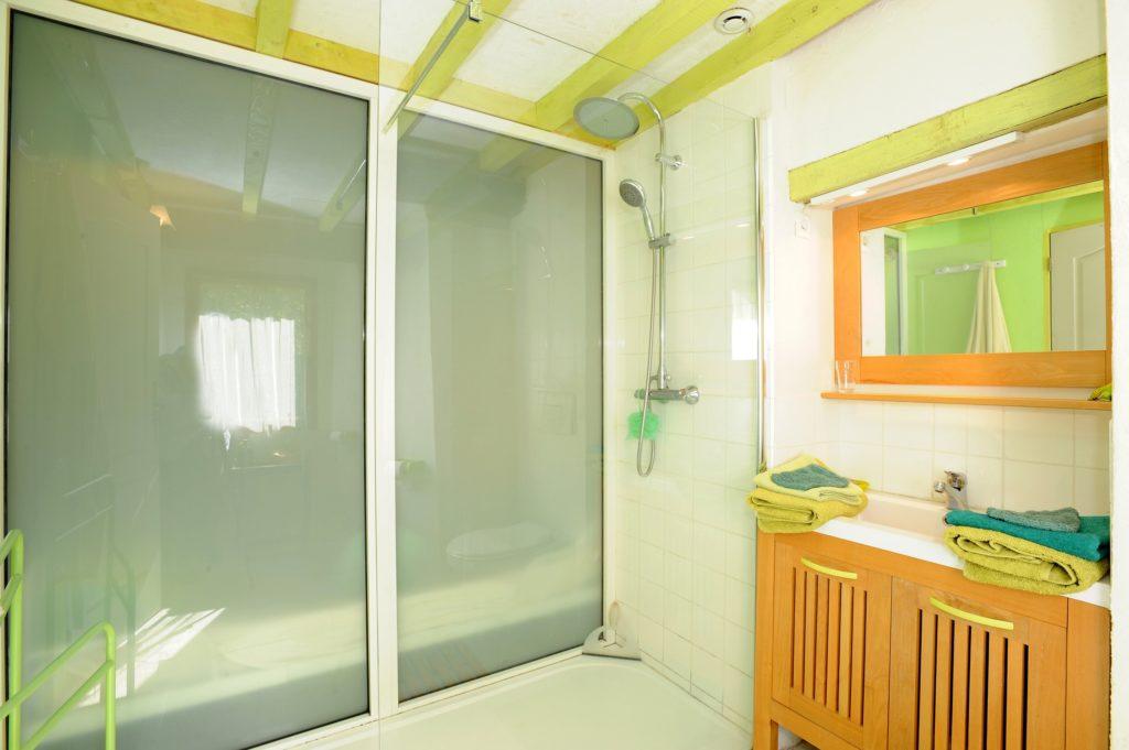 Salle de douche Verte